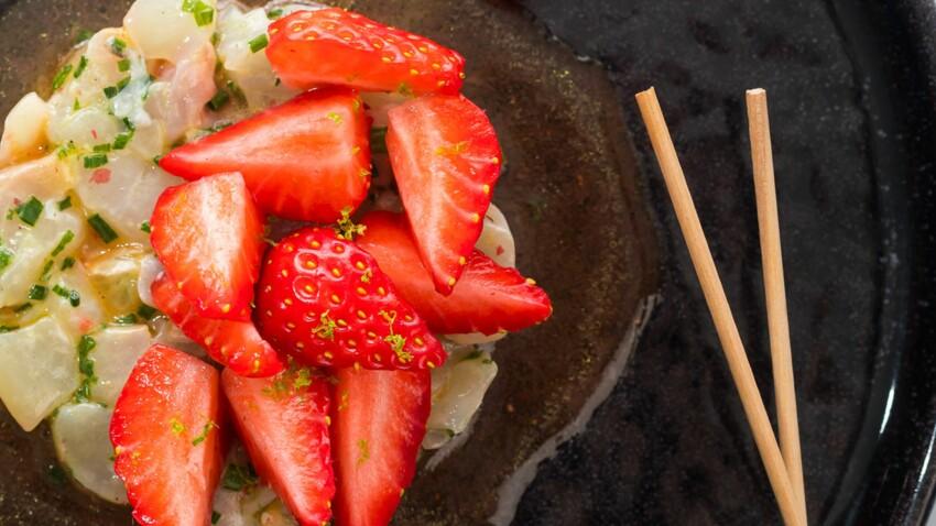 Tartare de dorade, fraises passion