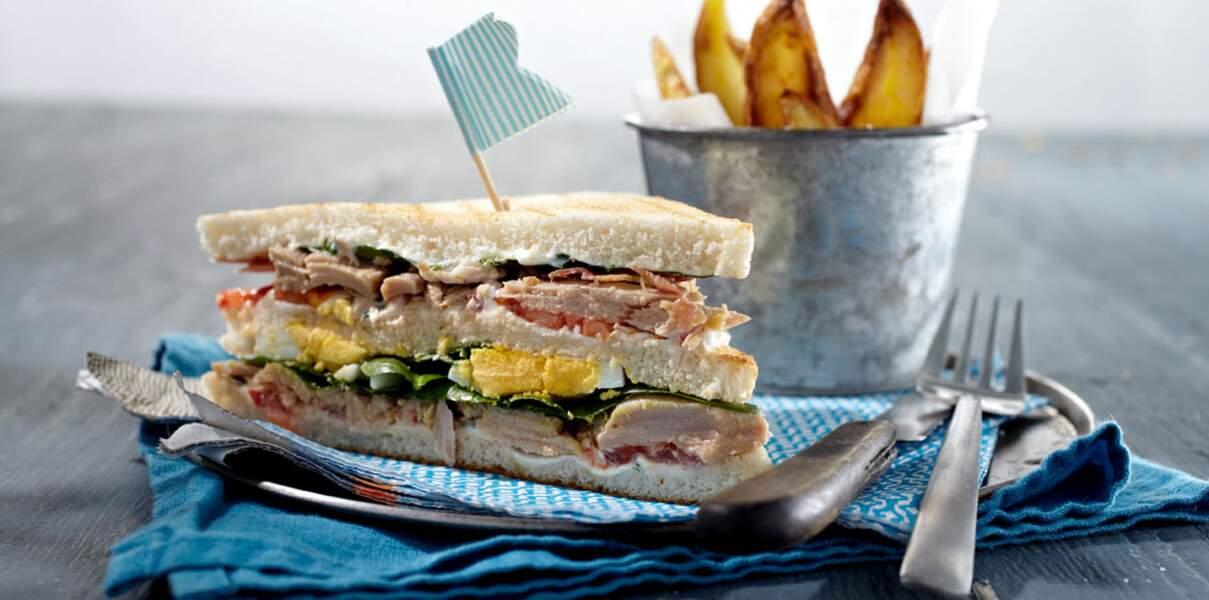 Club sandwich et filets de thon