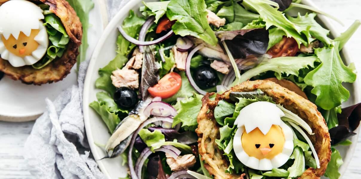 Salade de jeunes pousses Florette façon niçoise
