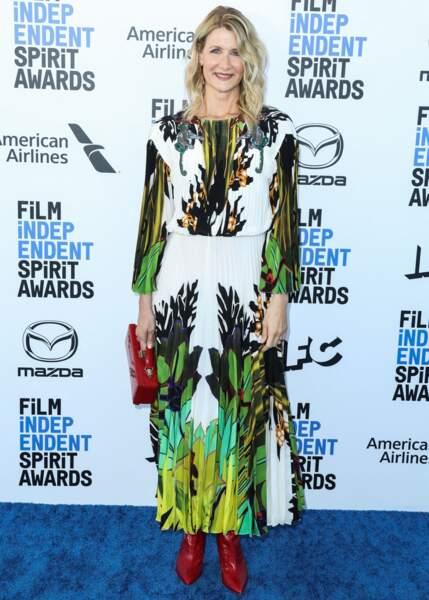 """Laura Dern à la soirée de la 35ème édition des """"Film Independant Spirit Awards"""" à Los Angeles, en 2020"""