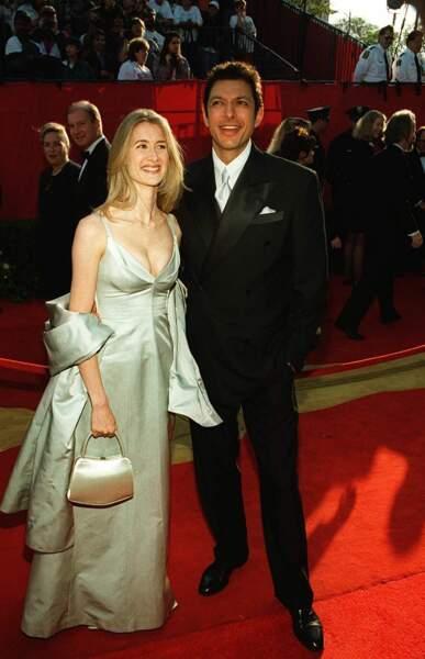 Laura Dern et Jeff Goldblum à la 68e cérémonie des Oscars en 1996