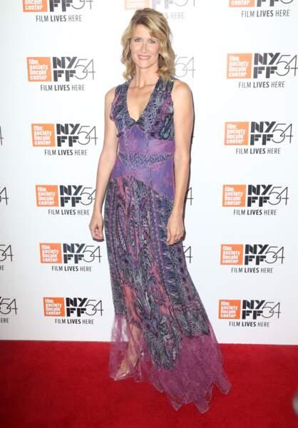 """Laura Dern à la première de Certain Women lors du 54e """"Festival du Film"""" à New York en 2016"""