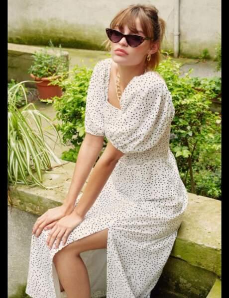 Tendance manches bouffantes : la robe longue