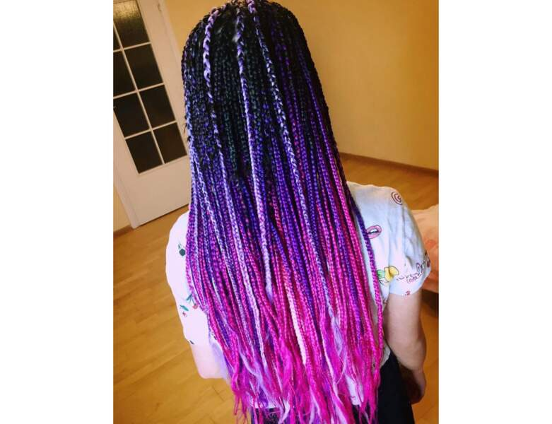 Box braids flashy