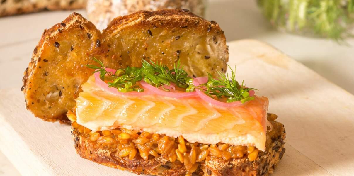 Sandwich céréales & saumon