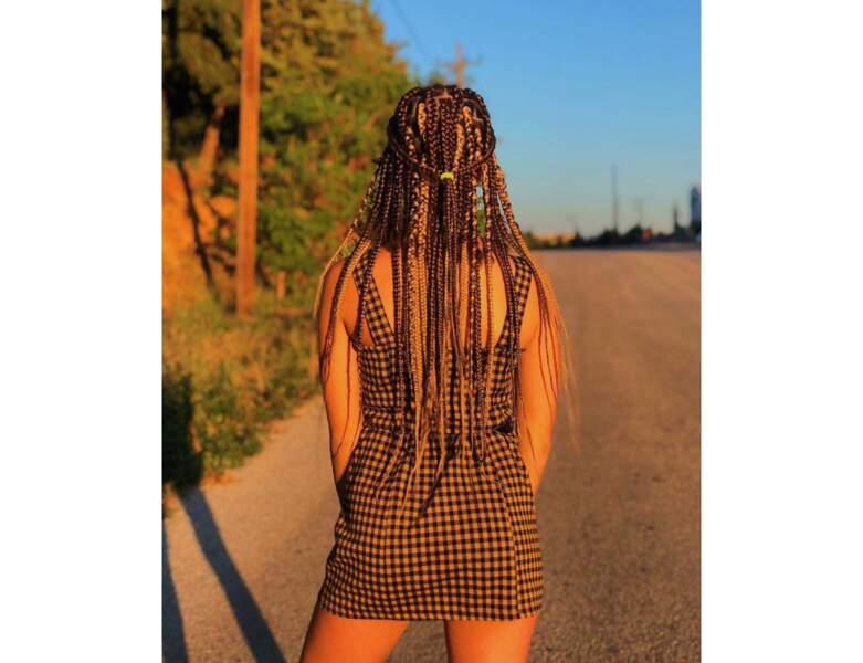 Box braids bicolores