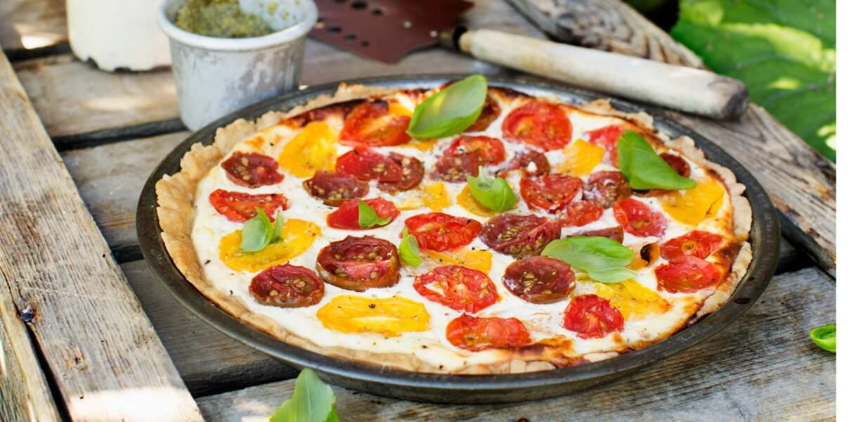 Tarte rustique aux trois tomates
