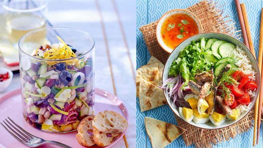 7 recettes de salades composées fraîches et savoureuses