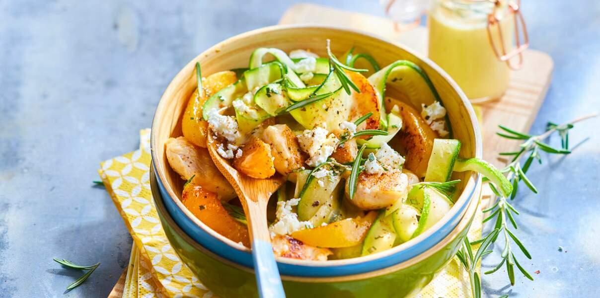 Salade de poulet grillé et vinaigrette fruitée