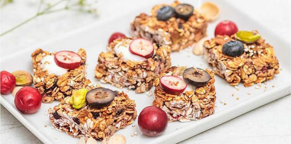 Barres de granola aux fruits rouges