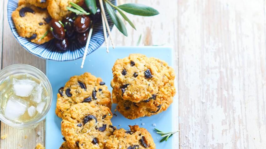 Cookies au quinoa et aux olives