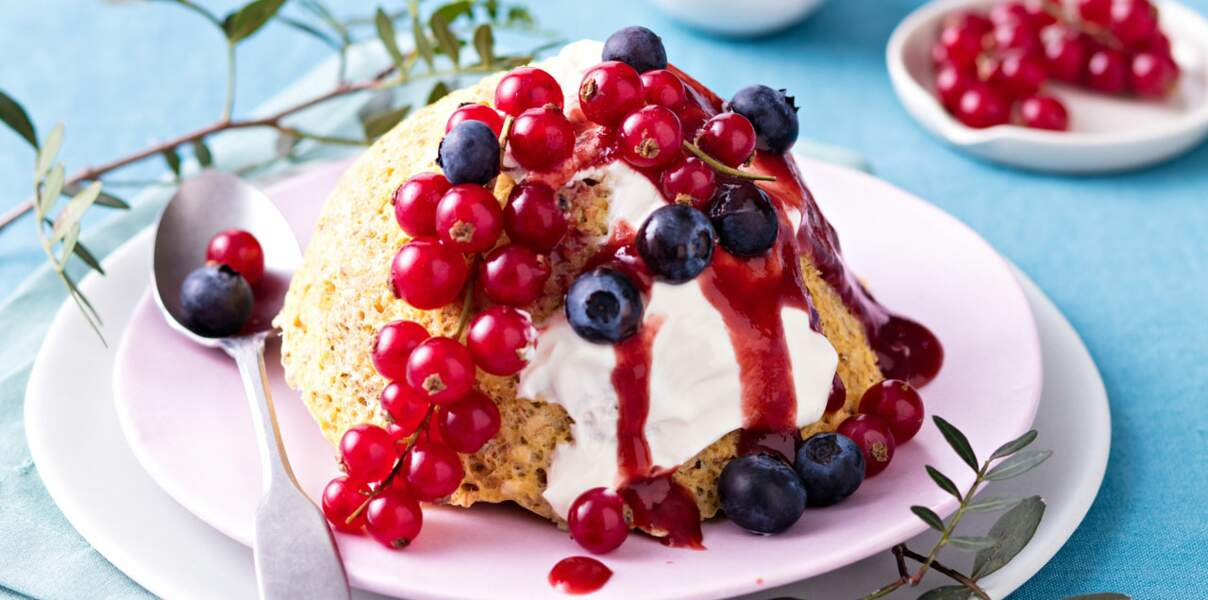 Bowl cake aux fruits rouges