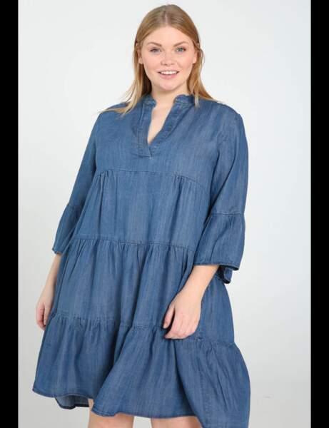 Robe grande taille : denim