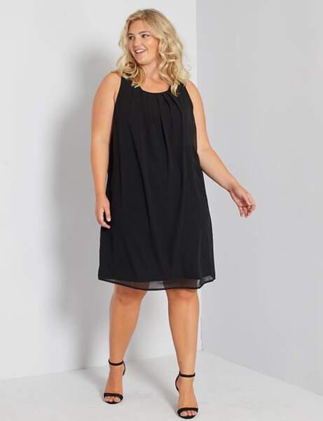 Robe grande taille : petite robe noire