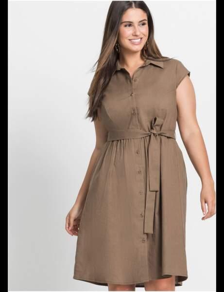 Robe grande taille : robe chemise