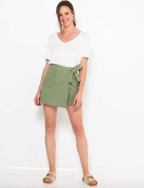 Une jupe-short pratique et stylée