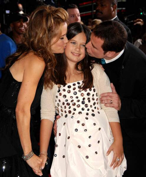 John Travolta, sa femme Kelly Preston et leur fille Ella Bleu