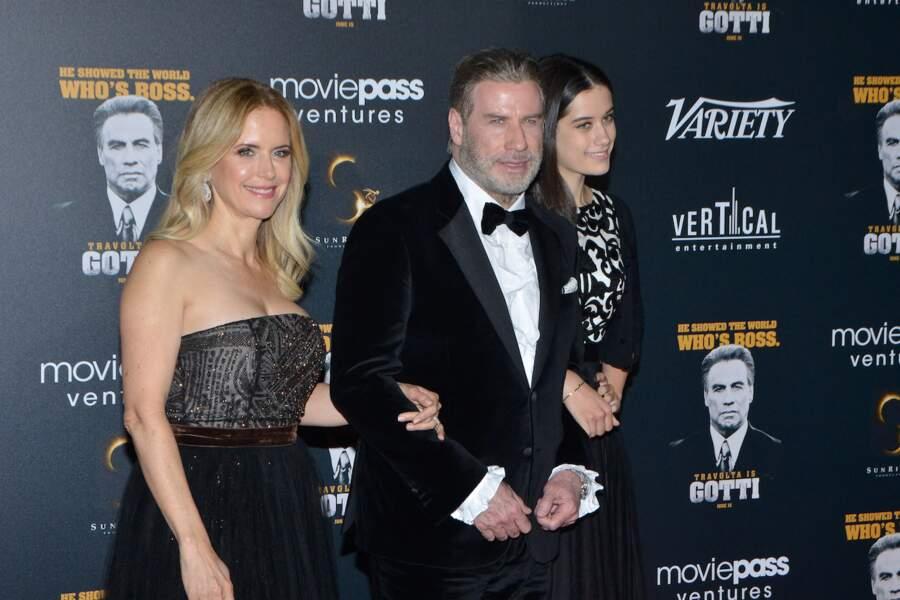 John Travolta, entre sa femme Kelly Preston et sa fille Ella Bleu