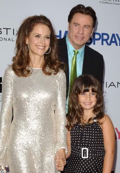 John Travolta, Kelly Preston et leur fille Ella Bleu