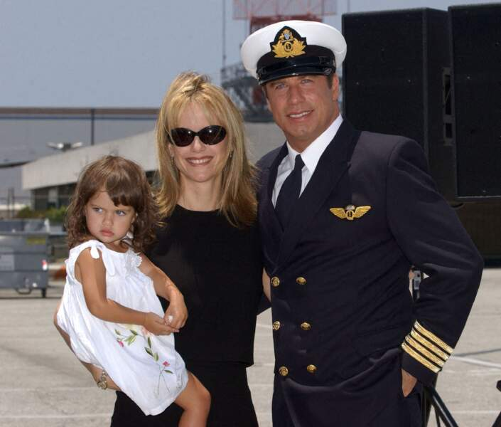 John Travolta, Kelly Preston et leur fille Ella Blue Travolta