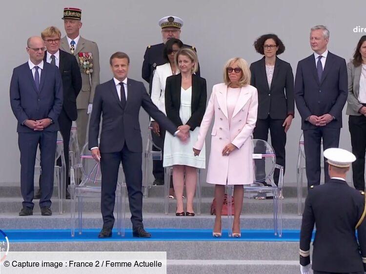 Emmanuel et Brigitte Macron : le petit geste de tendresse raté lors de la cérémonie du 14 juillet