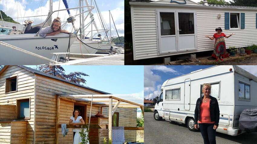 Caravane, voilier, tiny house: elles vivent dans des maisons mobiles