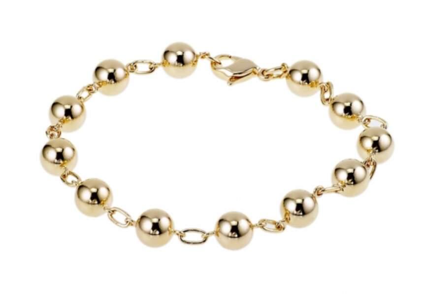 Bijou doré d'été : le bracelet maille boules