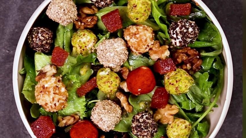 Salade multicolore de chèvre frais : la recette épatante du chef fromager