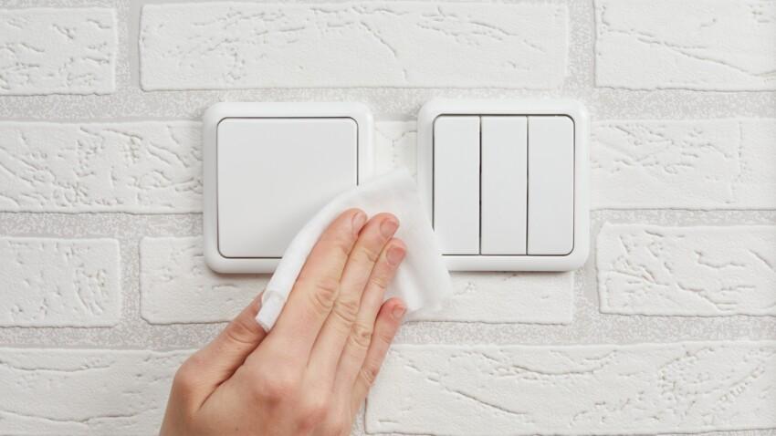 3 astuces pour nettoyer un interrupteur jauni