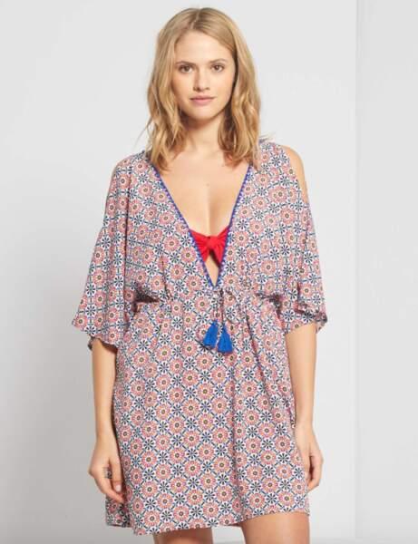 Robe de plage : type kimono