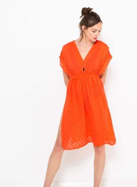 Robe de plage : flashy et courte