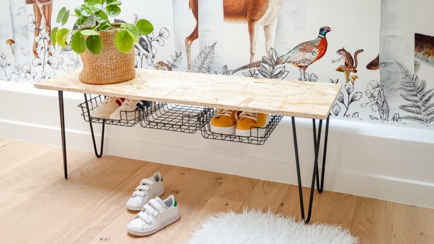 DIY rangement : fabriquer un banc à chaussures pour l'entrée