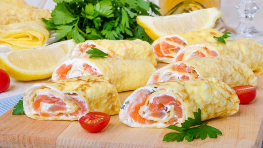 Nos délicieuses recettes de roulés au saumon