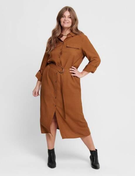 Robe grande taille : safari-chic