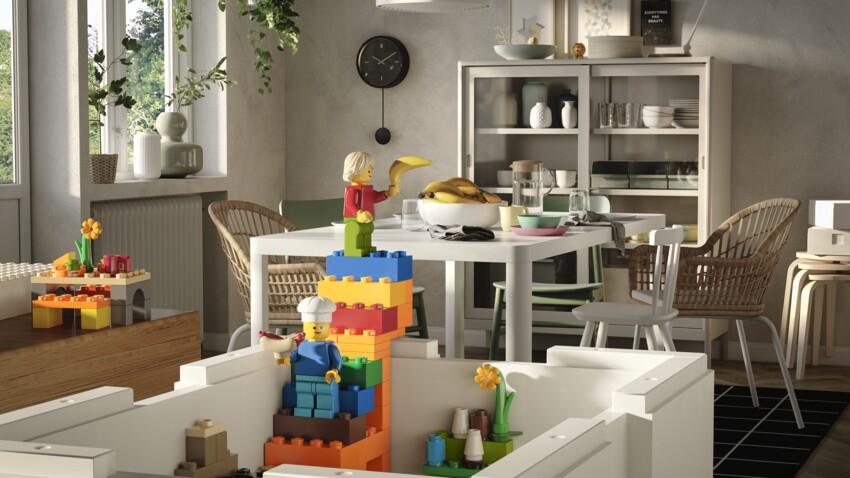 Ikea et Lego collaborent pour rendre le rangement plus ludique