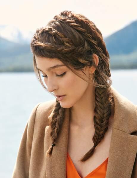 Coupe cheveux tendance automne/hiver : les nattes poissons