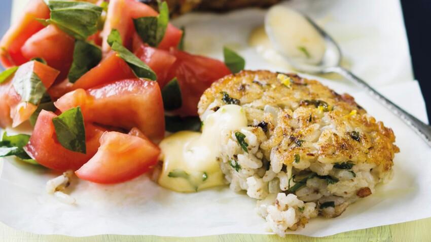 Croquettes de riz aux sardines grillées