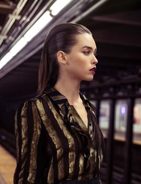Coupe cheveux tendance automne/hiver : le wet look