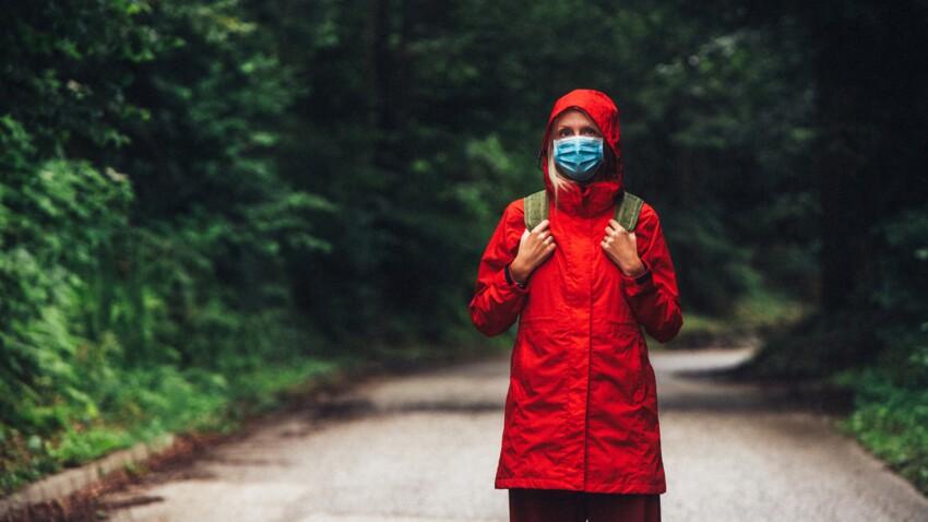 Port du masque : méfiez-vous de la pluie !