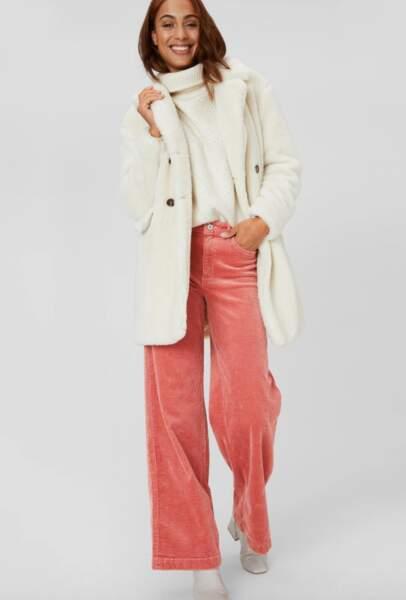 Les pantalons tendance de la rentrée automne-hiver 2020-2021 : en velours coloré