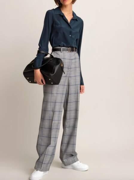Les pantalons tendance de la rentrée automne-hiver 2020-2021 : très large à imprimé