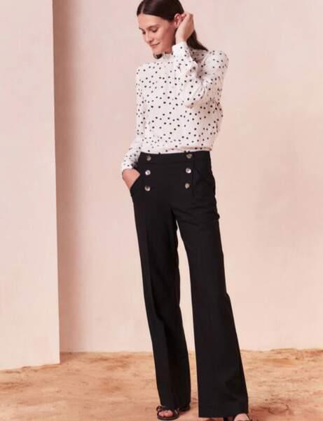 Les pantalons tendance de la rentrée automne-hiver 2020-2021 : pantalon à pont