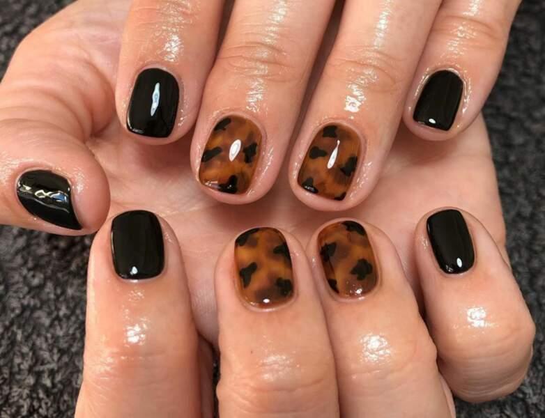 Du léopard mixé au noir