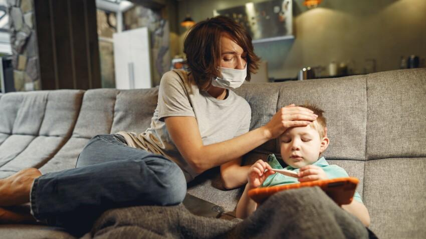 Toux, nez qui coule : comment réagir si votre enfant présente des symptômes proches de la Covid-19 ?