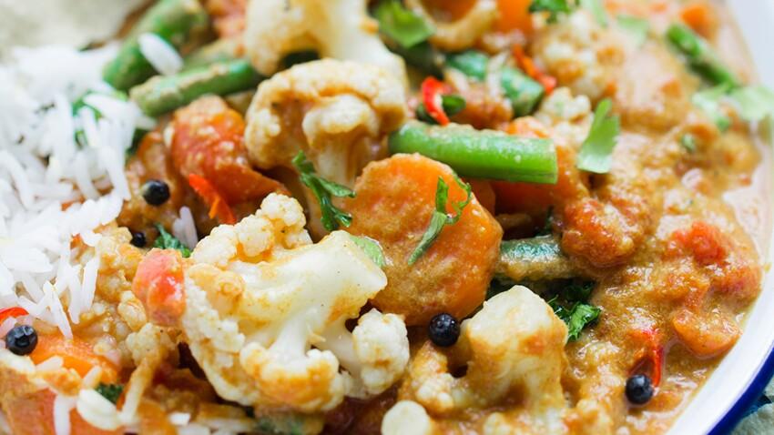 Curry de chou-fleur aux légumes