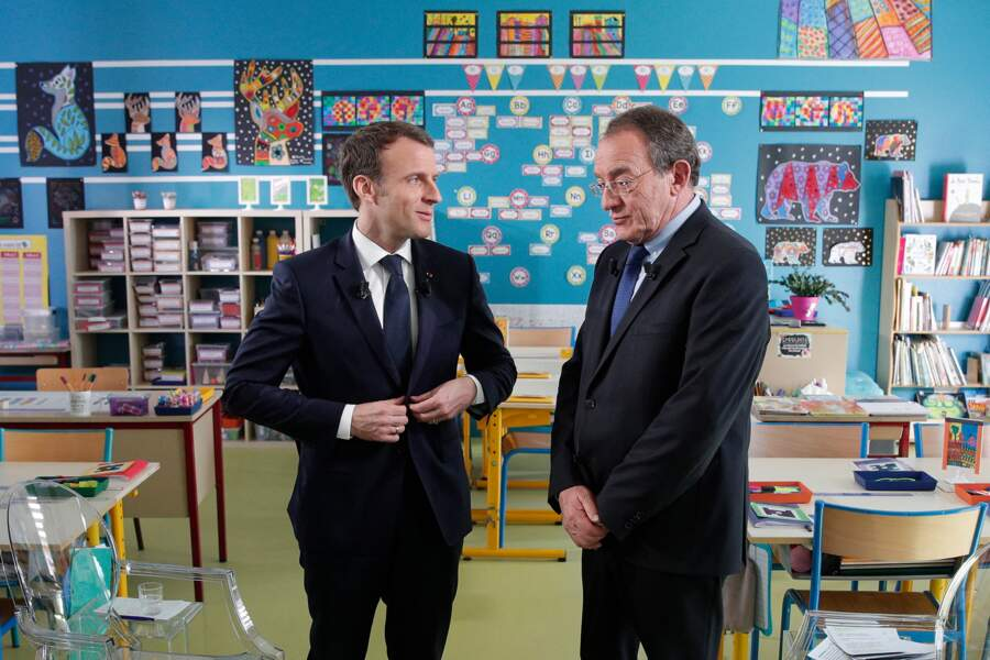 ... en la personne d'Emmanuel Macron. Une interview qui aura duré près d'une heure.