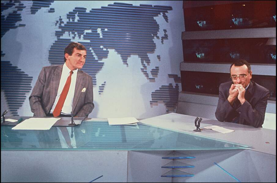 Jean-Pierre Pernaut et Yves Mourousi présenteront ensemble le journal de 1978 à 1980.