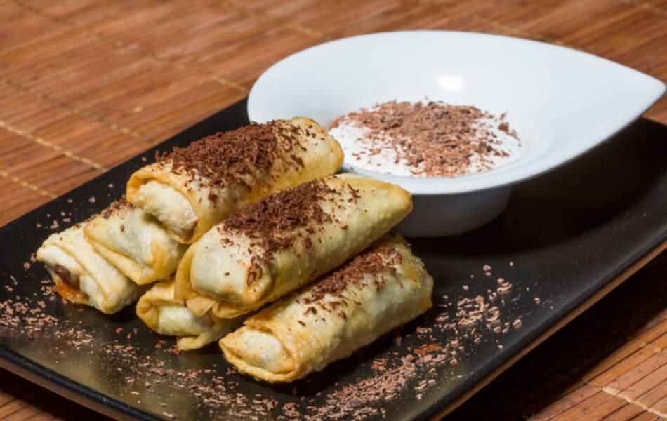 Tous en cuisine : la recette des nems de bananes au chocolat de Cyril Lignac