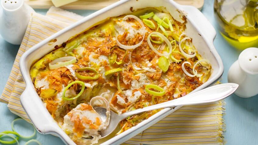 Tous en cuisine : la recette du gratin au poisson et légumes citronnés de Cyril Lignac