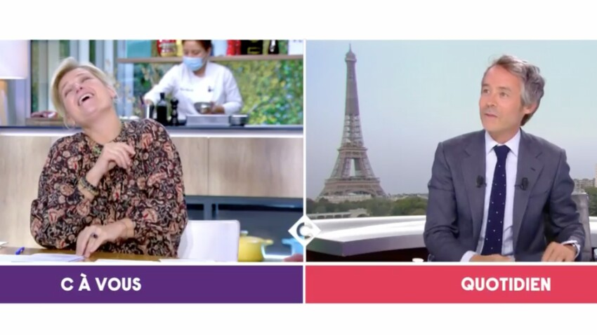 """Anne-Elisabeth Lemoine taclée par Yann Barthès en plein direct dans """"C à vous"""""""
